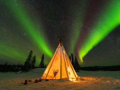 4天冬天黃刀極光之旅